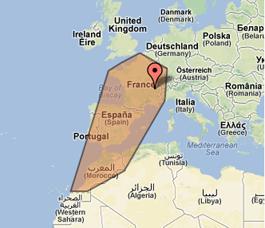 zone intervention asdep: villes de france et villes du maghreb